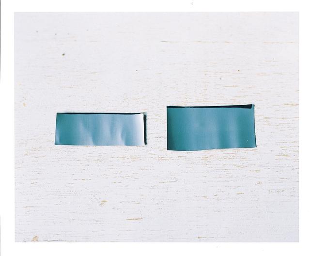 右がパーツA(コルクの長さ+15mm)で左がパーツB(コルクの長さ+5mm)。