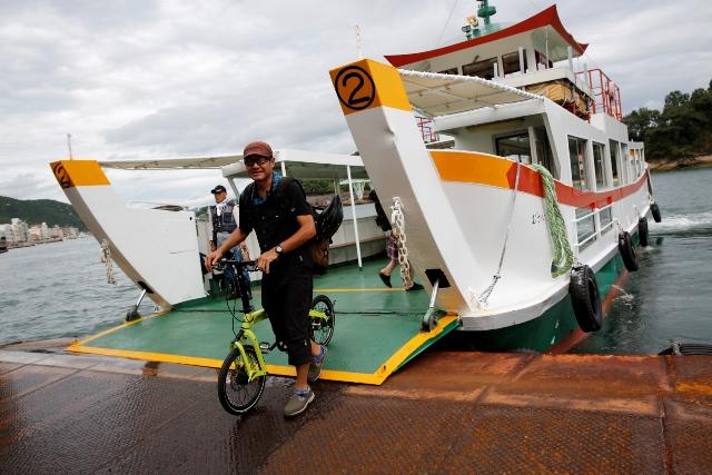 渡船、尾道から向島へ!