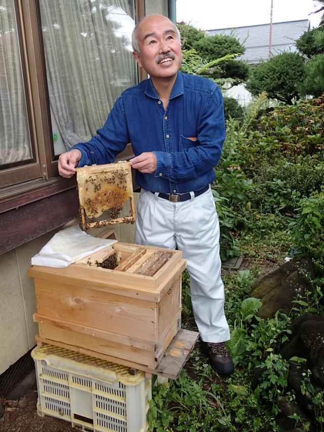 岩波金太郎さん。ニホンミツバチのように優しい人。