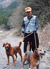 ご主人の望月定良さんと愛犬。