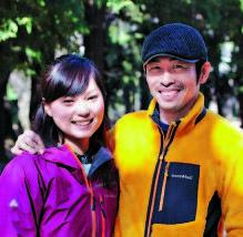 7年半かけて自転車で 世界一周を成し遂げた 旅行作家のゆうすけさ ん。今回は奥様と登場。