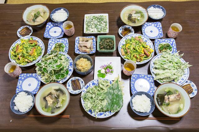 薬草を使った豪華な夕食。