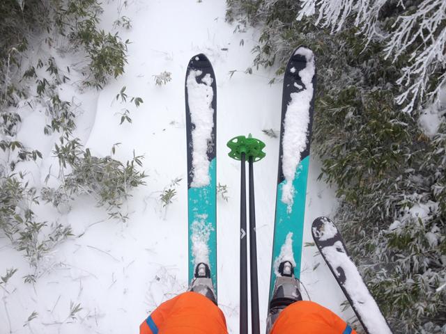 スキーはスキーでも、ぼくがハマっているのは踵が自由に上げ下げできるテレマークスキーです。難しいからおもしろい。おじさんは、難しいからハマるのです。