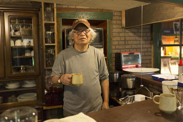 オーナーの小田切進さん。日本一パワフルなアラエイティ。