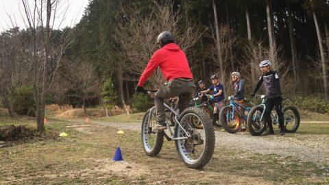 試乗会と同時開催されたタイヤ太めのマウンテンバイクの乗り方教室