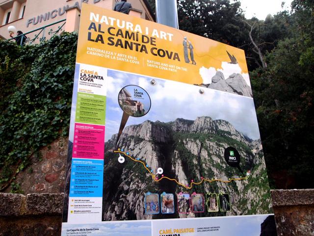 サンタ・コバのコースの説明つきマップ。見どころの写真説明つき。 本当にわかりやすいです