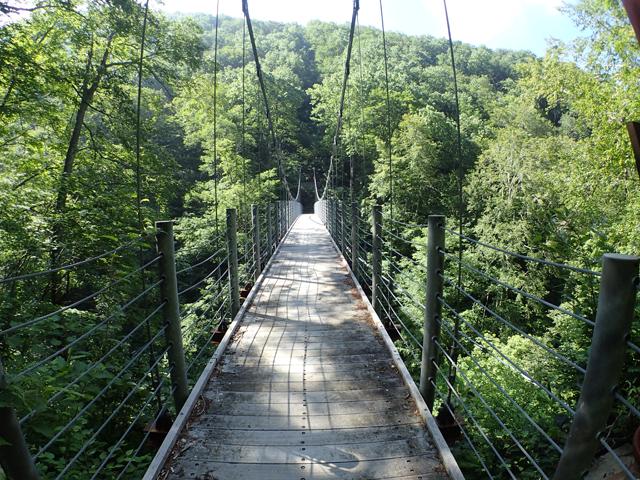 遊仙峡に架かる吊り橋