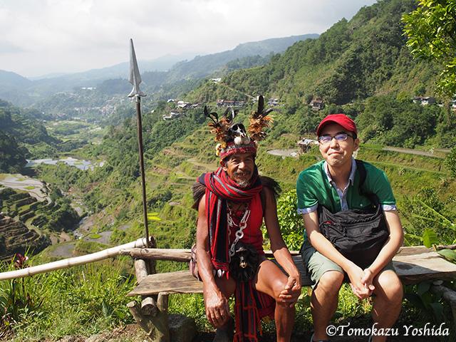 近影。フィリピンのバナウェにて