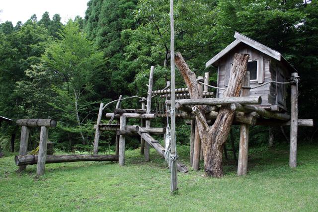 中学生の愛息・大地くんがまだ幼い頃、遊び道具として作ったツリーハウス