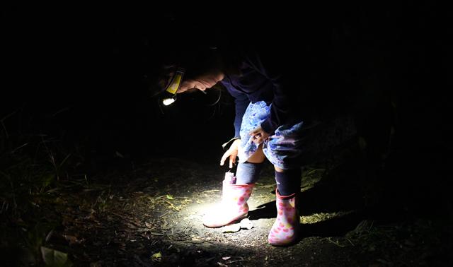 明かりを減らす際、彼女は長靴にハンドライトをしまう。こうすると、怖くなったときにすぐ取り出せるそうだ