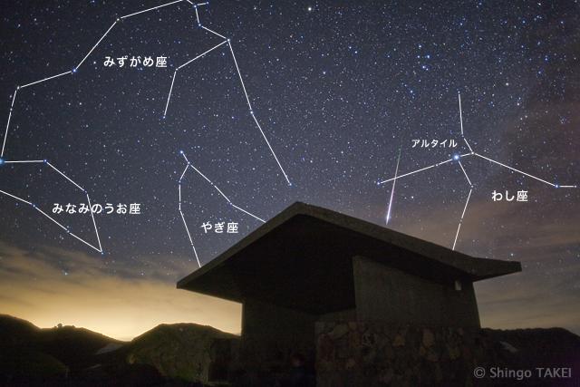 """本写真に写っている流星は、一瞬、眩しさを感じるほどの明るさだった。特に明るい流星のことを""""火球""""(かきゅう)と呼ぶ"""