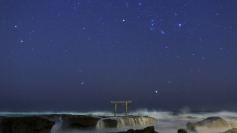 荒磯を見守る星々 / 茨城県