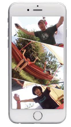 専用アプリ「EXILIM ALBUM」を使えば、全天周画像を分割ビューで楽しめる!