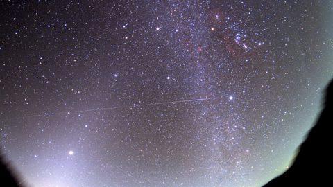 冬の天の川と黄道光、そしてISS / 長野県