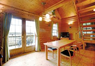 フィンランドタイプのハウスの内部。
