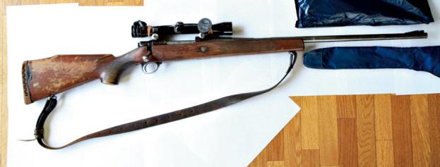 ライフル。サコー社のフィンベアー338マグナム。