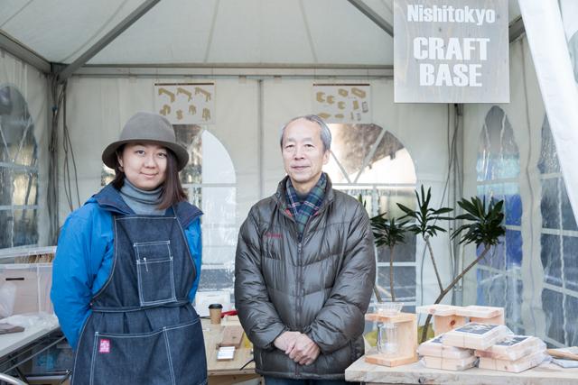 KAY PLANNING代表の谷本健治さんとCRAFT BASE代表の小菅亜実さん(左)。