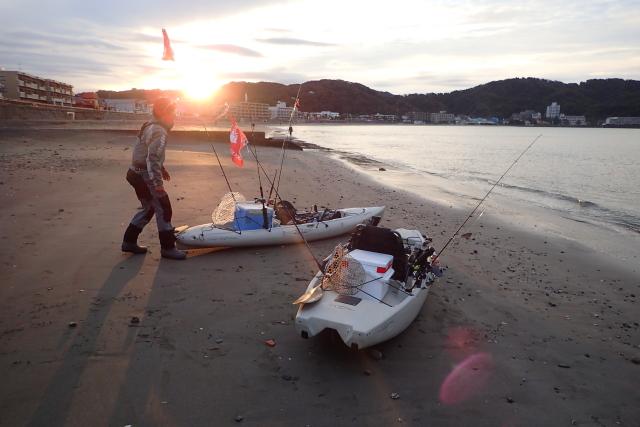 早朝からマリンボックス沼野さんと出船