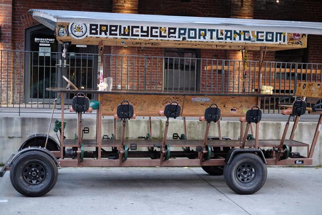 他にもリバークルーズでブリュワリーを巡るツアーもある。もちろんそちらも動力はペダル。
