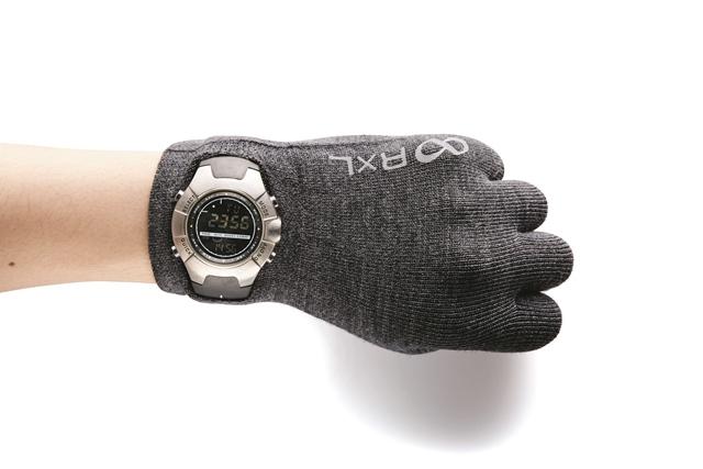 腕時計のフェースを左手首にある穴から出して着用。これってすっごく便利!!