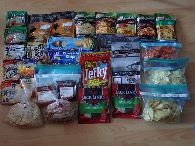 ロングトレイル・ハイキングの食料