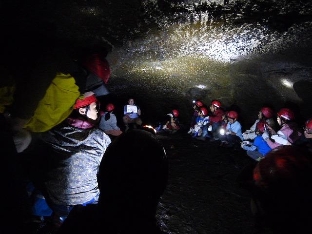 溶岩洞窟探検 (8)