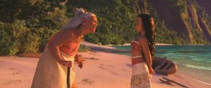 MOANA - (Pictured) Gramma Tala and Moana. ©2016 Disney. All Rights Reserved.