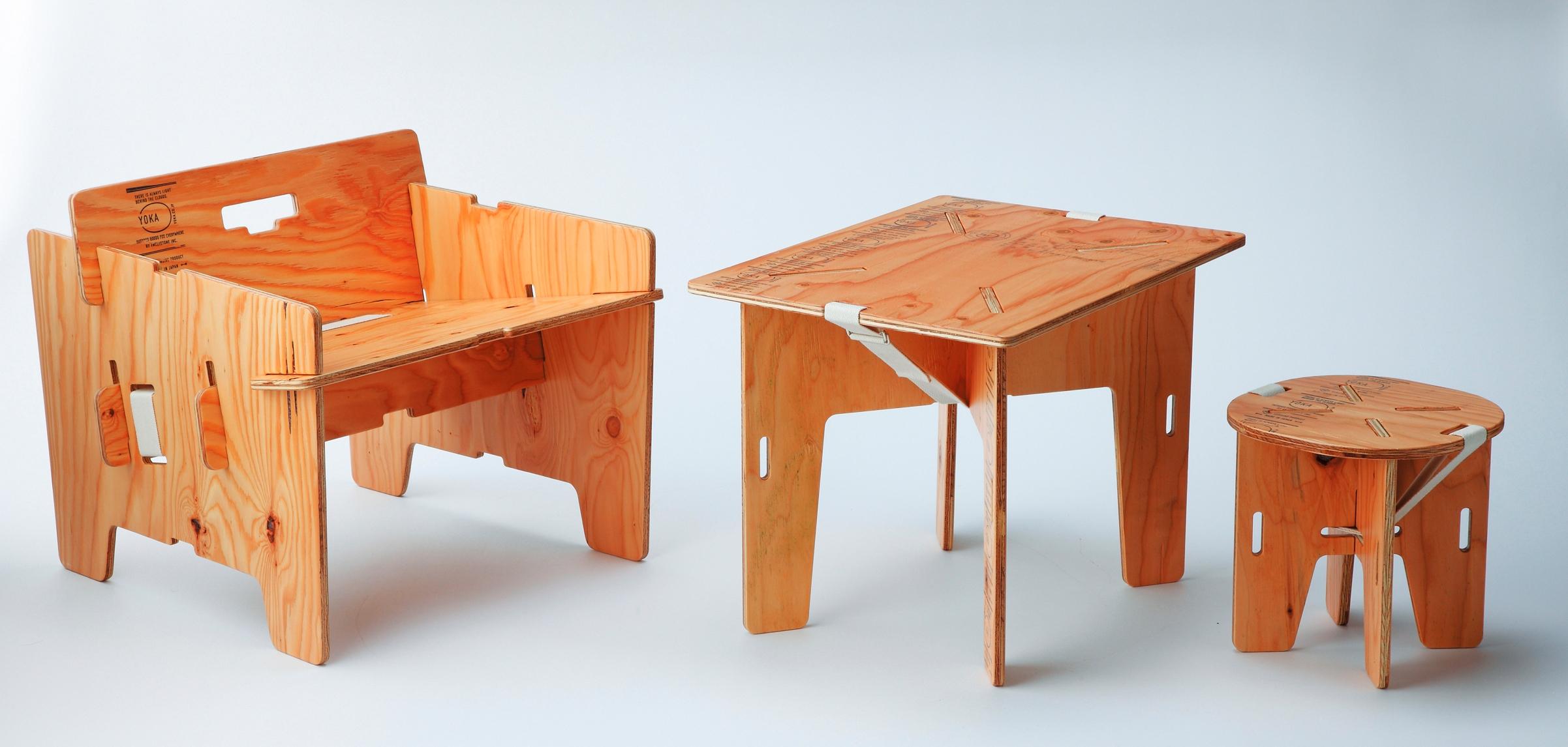 家でも使えるキャンプ用家具】木製パネルの組み立て式!「yoka」|be-pal