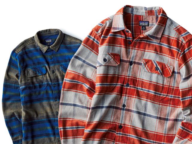 パタゴニアの定番のフランネルシャツ