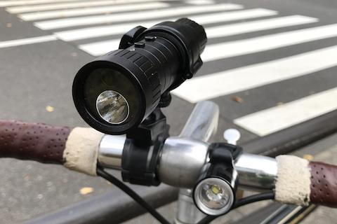 自転車マルチライト付きドライブレコーダー