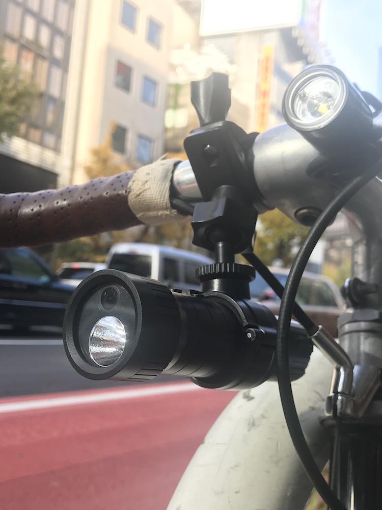 ヒロ・コーポレーション「自転車マルチライト付きドライブレコーダー」