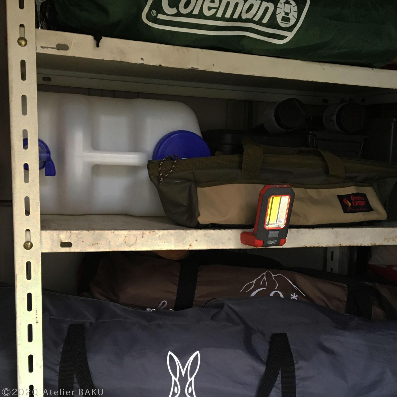 LEDワークライト、倉庫の棚