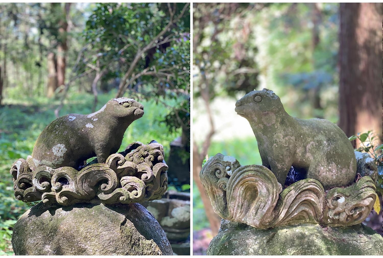 沢井八幡神社の「波乗りウサギ」