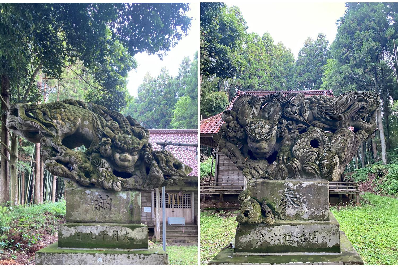 村社鹿島神社の狛犬