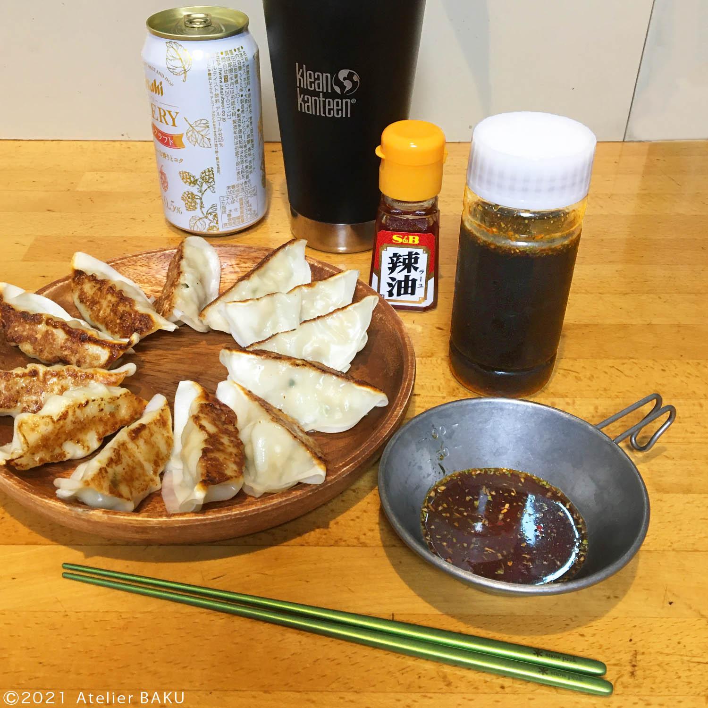 野香醤油と餃子